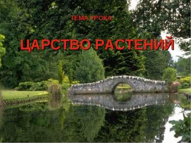 ЦАРСТВО РАСТЕНИЙ ТЕМА УРОКА: