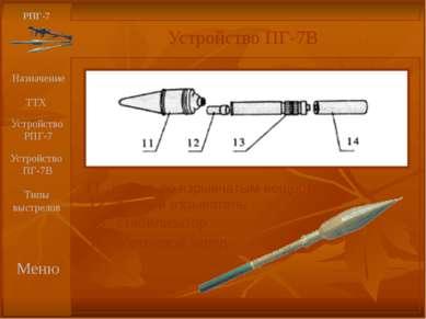 11 корпус со взрывчатым веществом РПГ-7 Устройство ПГ-7В Назначение ТТХ Меню ...