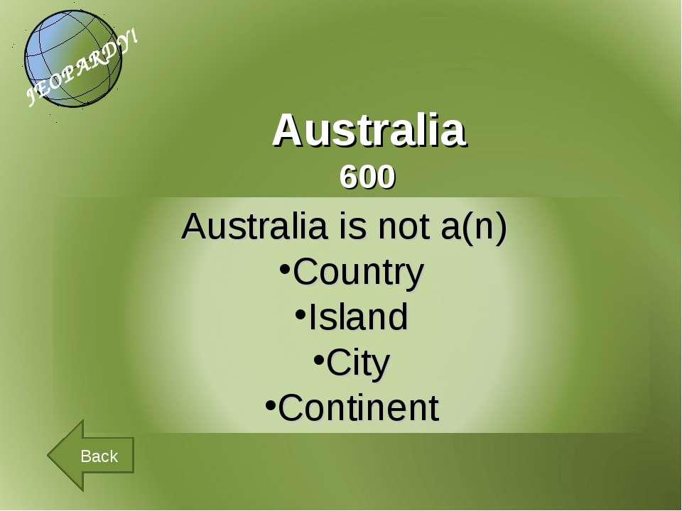 Australia 600 Back
