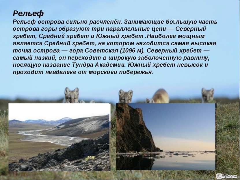 Рельеф Рельеф острова сильно расчленён. Занимающие бо льшую часть острова гор...