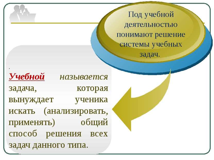 . Учебной называется задача, которая вынуждает ученика искать (анализировать,...