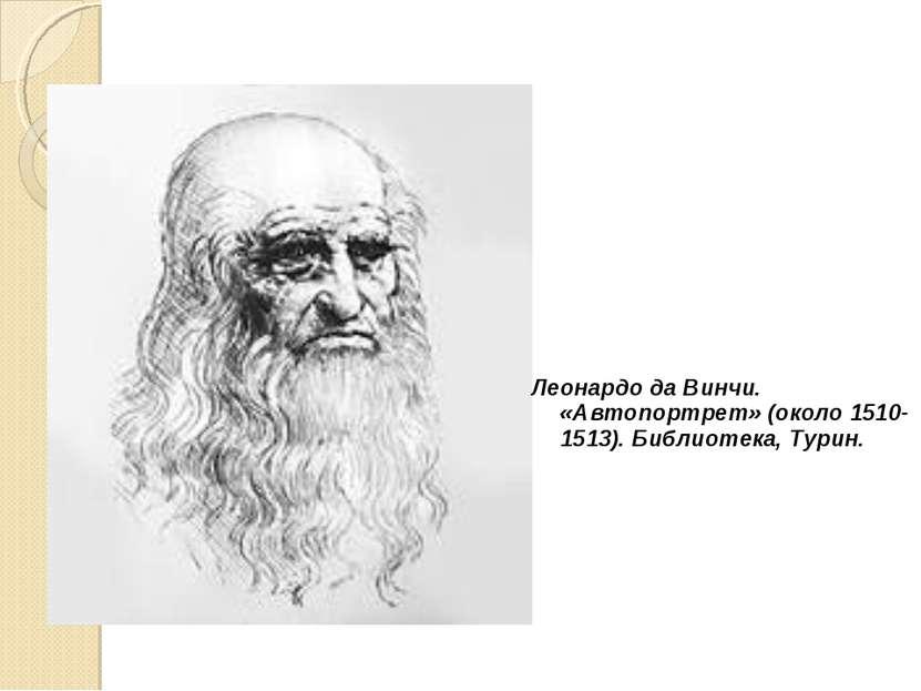 Леонардо да Винчи. «Автопортрет» (около 1510-1513). Библиотека, Турин.