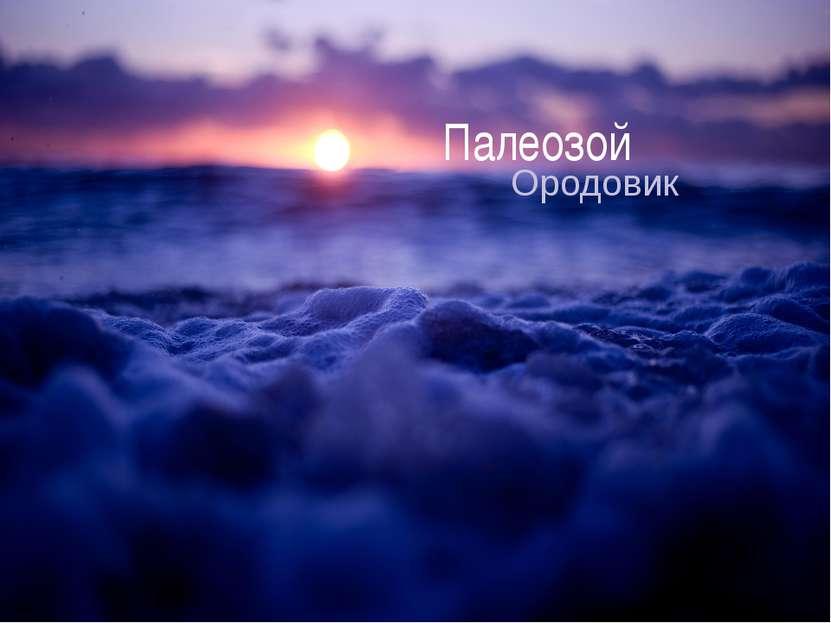 Палеозой Ородовик