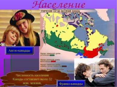 Численность населения Канады составляет около 32 млн. человек. Англо-канадцы ...