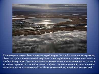 На ненецком языке Ямал означает «край мира». Как и большая часть Арктики, Яма...