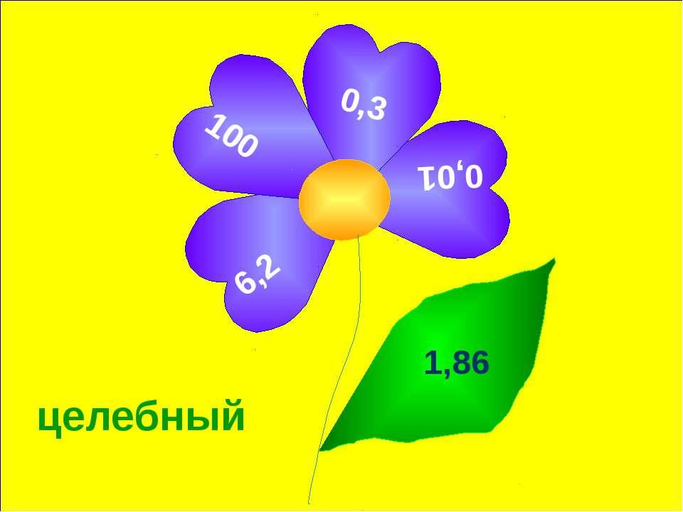 целебный 6,2 0,01 0,3 100 1,86