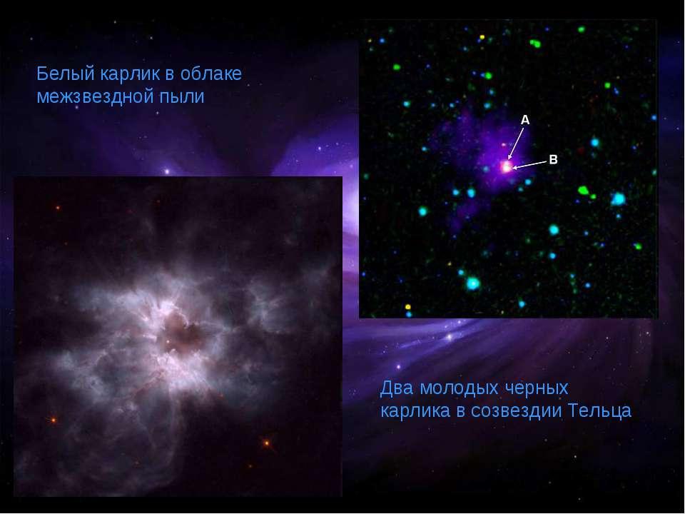 Белый карлик в облаке межзвездной пыли Два молодых черных карлика в созвездии...