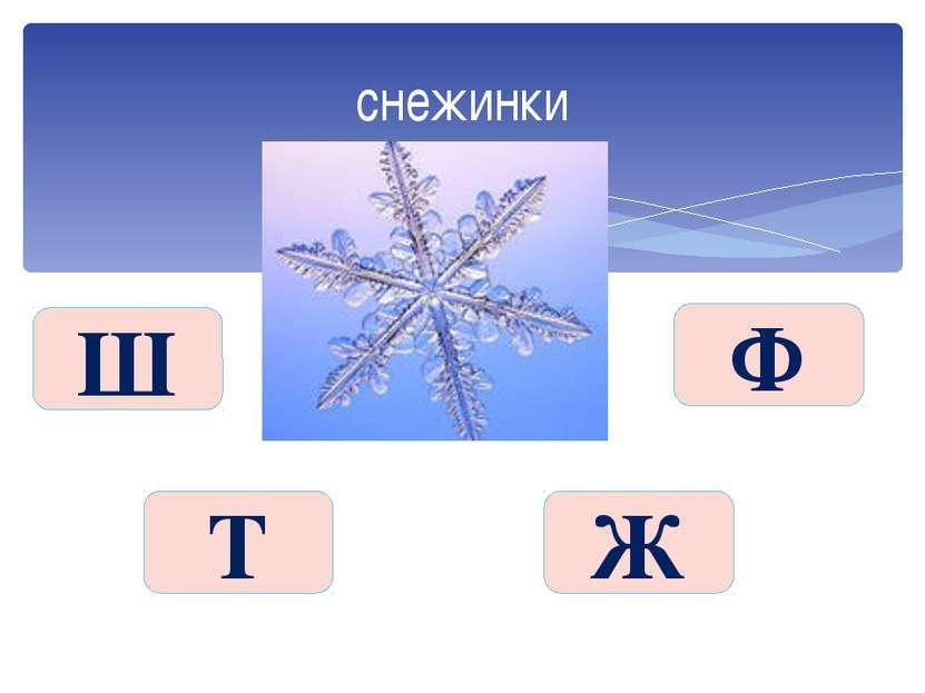 снежинки Ш Ж Т Ф