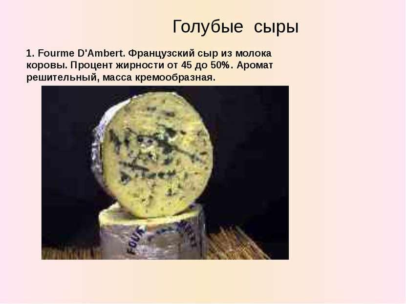 Голубые сыры 1. Fourme D'Ambert. Французский сыр из молока коровы. Процент жи...