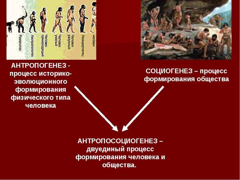 АНТРОПОГЕНЕЗ - процесс историко-эволюционного формирования физического типа ч...