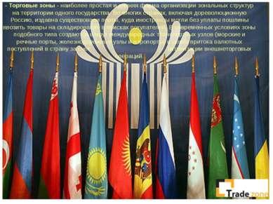 -Торговые зоны- наиболее простая и давняя форма организации зональных струк...