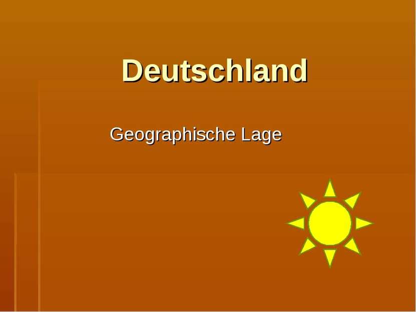 Deutschland Geographische Lage