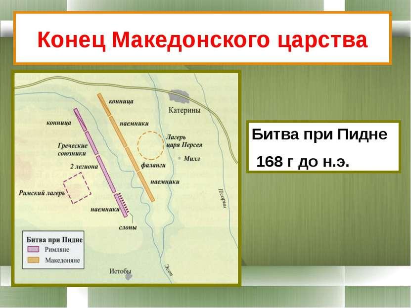 Конец Македонского царства Битва при Пидне 168 г до н.э.