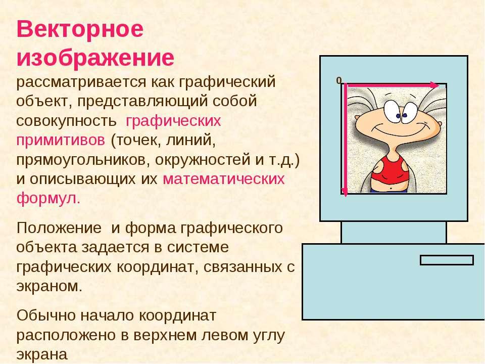 Векторное изображение рассматривается как графический объект, представляющий ...