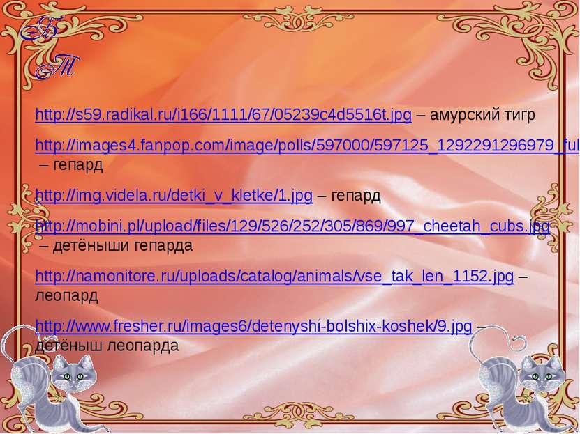 http://s59.radikal.ru/i166/1111/67/05239c4d5516t.jpg – амурский тигр http://i...