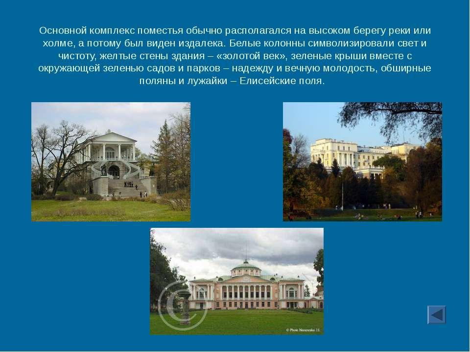 Основной комплекс поместья обычно располагался на высоком берегу реки или хол...