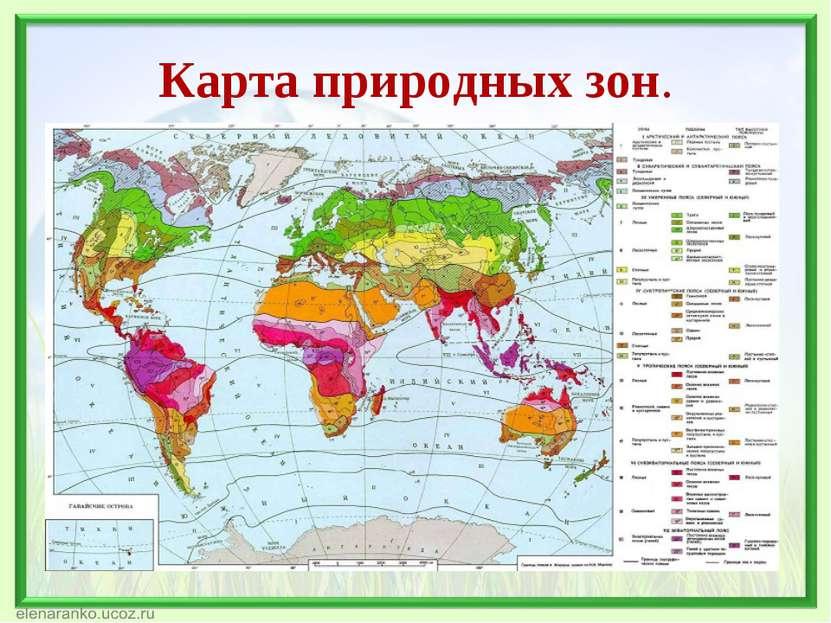 Карта природных зон.