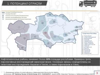 Нефтегазоносные районы занимают более 60% площади республики. Примерно треть ...