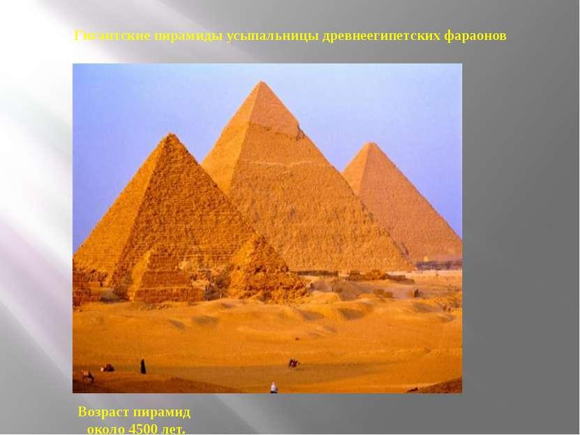 Гигантские пирамиды усыпальницы древнеегипетских фараонов Возраст пирамид око...