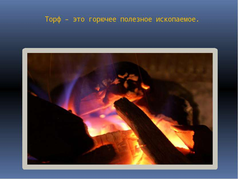 Торф – это горючее полезное ископаемое.