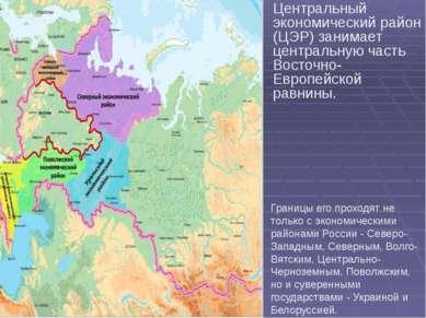 Центральный экономический район (ЦЭР) занимает центральную часть Восточно-Евр...