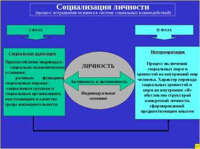 Социализация личности (процесс встраивания человека в систему социальных взаи...
