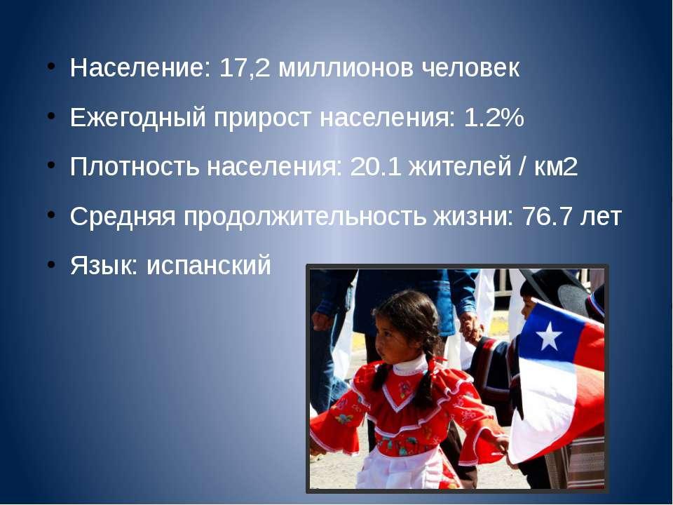 Население: 17,2 миллионов человек Ежегодный прирост населения: 1.2% Плотность...