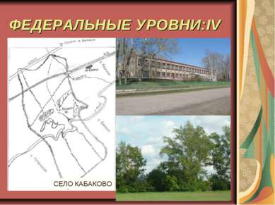 ФЕДЕРАЛЬНЫЕ УРОВНИ:IV СЕЛО КАБАКОВО