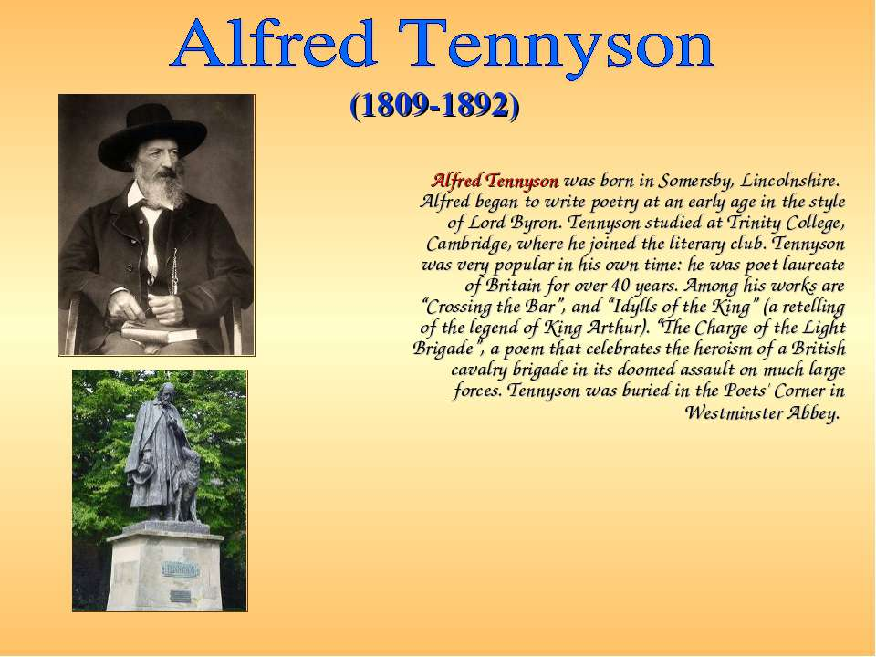 anaylsis alfred lord tennyson s eagle Here are some equally unsupported impressions about the poem: the eagle by alfred, lord tennyson have a read of these for some different ideas: poetry analysis: the eagle, by alfred tennyson - by liz allen - helium the eagle.