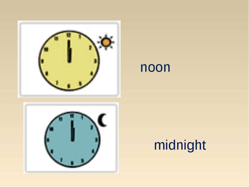 noon midnight