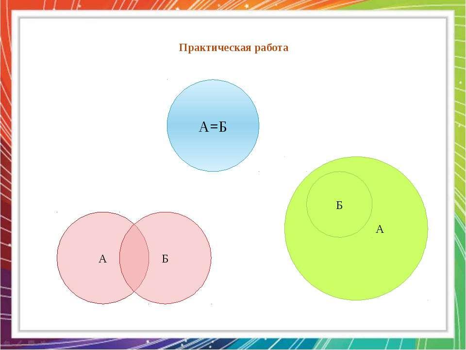Практическая работа  А=Б А Б А Б