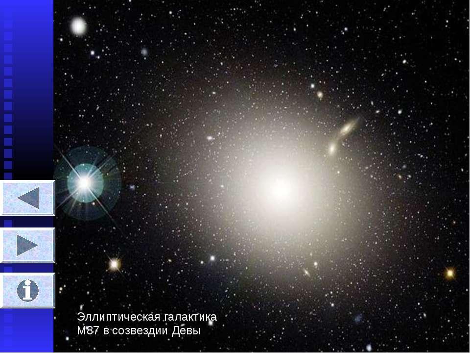 Эллиптическая галактика М87 в созвездии Девы