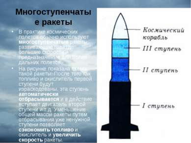 Многоступенчатые ракеты В практике космических полетов обычно используют мног...