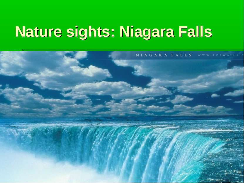Nature sights: Niagara Falls