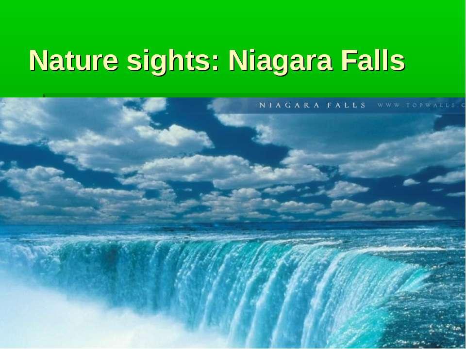 Nature sights: Niagara Falls