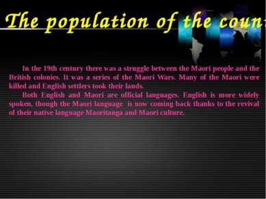 The population of the country In the 19th century there was a struggle betwee...