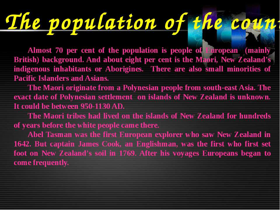 The population of the country Almost 70 per cent of the population is people ...