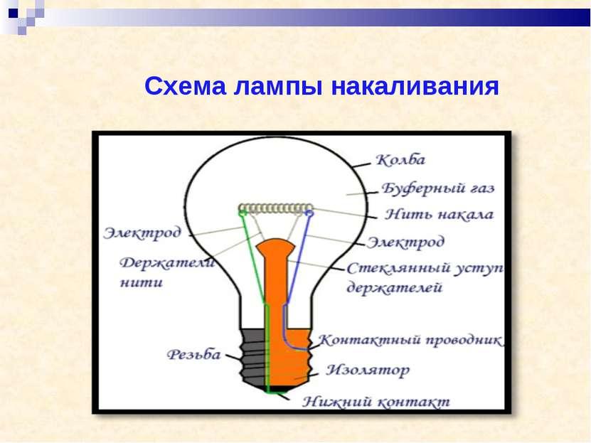 Схема лампы накаливания