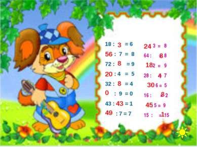 18 : = 6 : 7 = 8 72 : = 9 : 4 = 5 32 : = 4 : 9 = 0 43 : = 1 : 7 = 7 3 56 8 20...
