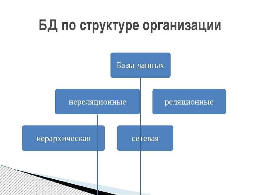 БД по структуре организации