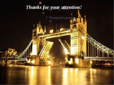 Thank you very much for your attention Thanks for your attention!