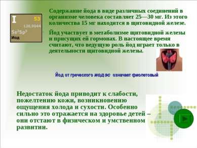 Содержание йода в виде различных соединений в организме человека составляет 2...