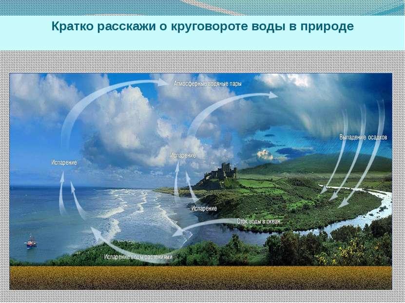 Кратко расскажи о круговороте воды в природе