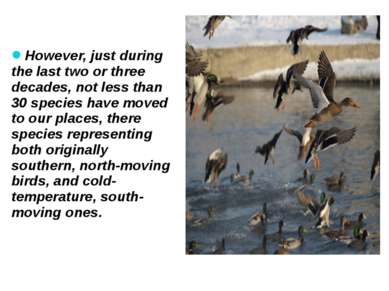 However, just during the last two or three decades, not less than 30 species ...