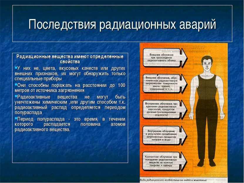Последствия радиационных аварий Радиационные вещества имеют определенные свой...