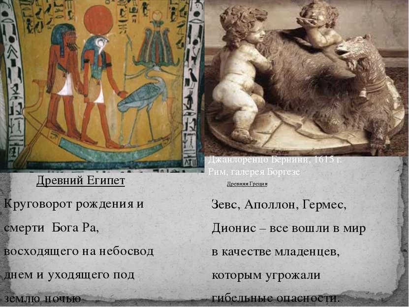 Древний Египет Круговорот рождения и смерти Бога Ра, восходящего на небосвод ...