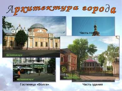 Гостиница «Волга» Часть здания Планетарий Часть города
