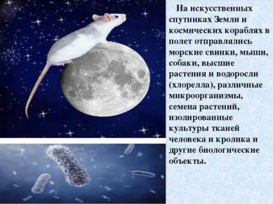 На искусственных спутниках Земли и космических кораблях в полет отправлялись ...