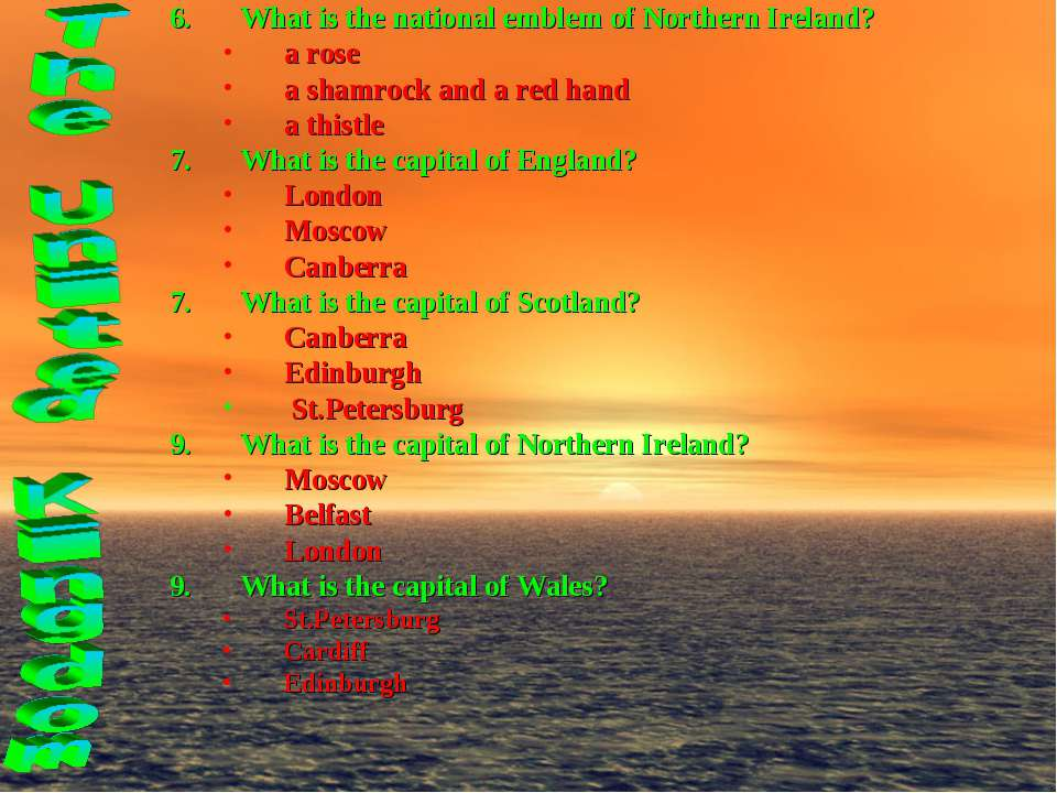 What is the national emblem of Northern Ireland? a rose a shamrock and a red ...