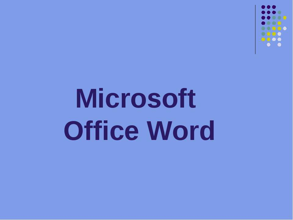 Microsoft Office Word